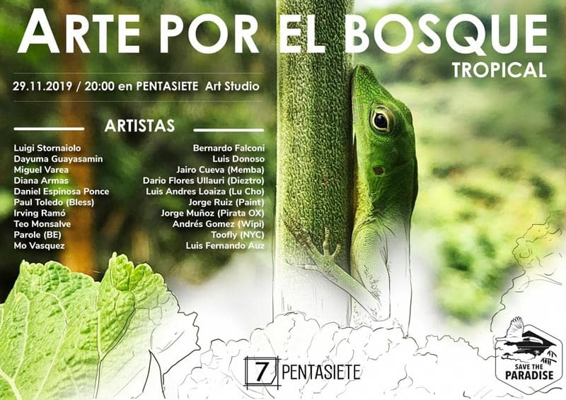 Art por el bosque flyer